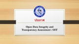 Open Data Integrity and Transparency Assessment : OIT